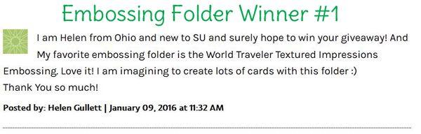 Embossing folder blog candy winner 1 pattystamps stampin up copy