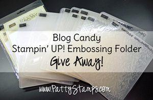 Embossing folder blog candy pattystamps