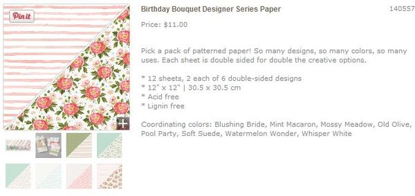 Birthday bouquet dsp designs stampin up