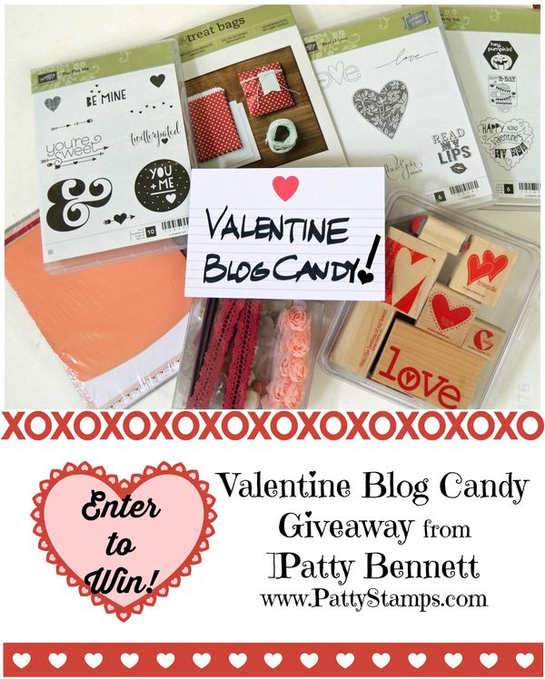 Valentine blog candy pattystamps stampin up