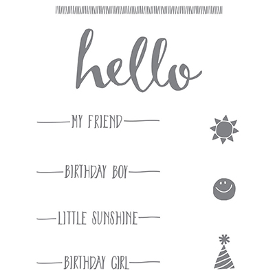 141243 Hello Sale a Bration stamp set from Stampin' Up! - limited-time offer through Feb. 15, 2016