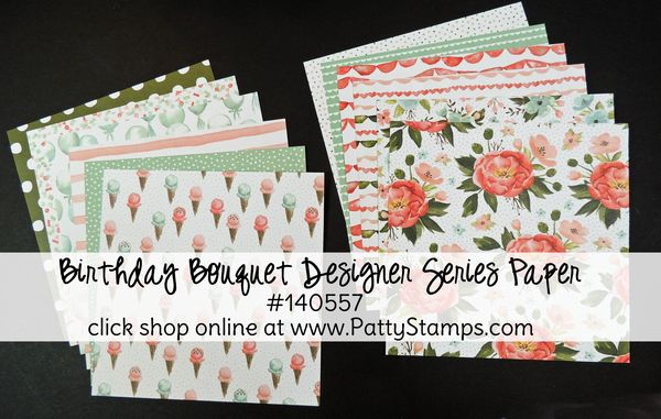 Occasions 2016 birthday bouquet dsp pattystamps