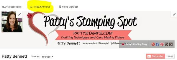 1500000 views youtube pattystamps
