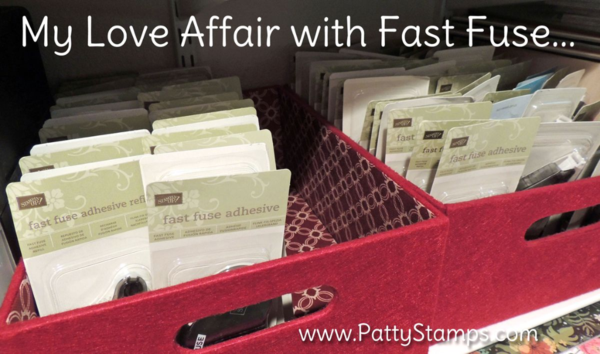 Stampin UP! Fast Fuse Adhesive refill on sale this week - check out the Weekly Deals at www.PattyStamps.com