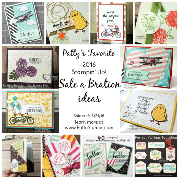 Sale a bration 2016 project ideas from pattystamps.com
