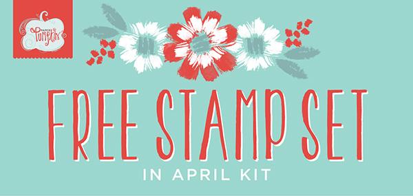 Free stamp set april 2016 paper pumpkin
