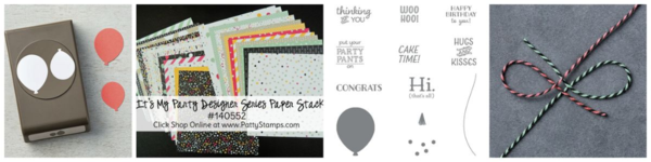 Party pants birthday card stamping supplies from Stampin' UP!