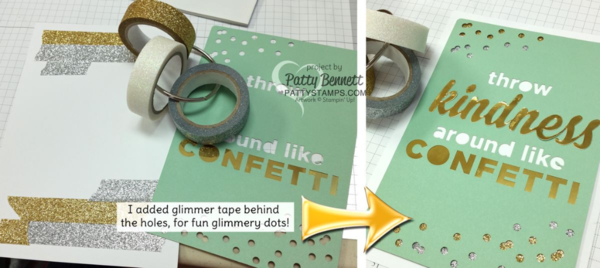 Patty's Tip for using Metallic Glitter Tape in your Enjoy the Little Things project kit from Stampin' UP!