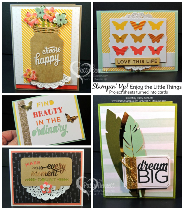 """Try creating greeting cards from your Stampin' Up! """"Enjoy the Little Things"""" project kit!"""
