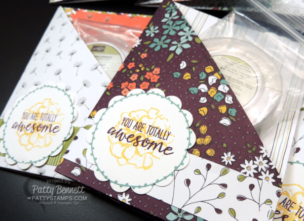 Wildflower Fields designer paper double pocket cards from Sale a Bration 2016 - Stampin' Up!, by Patty Bennett