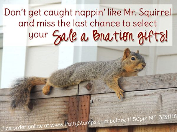 End of sale a bration stampin up pattystamps mr squirrel