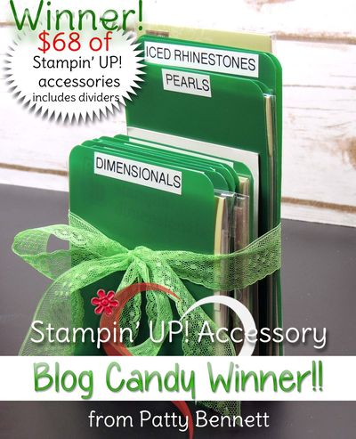 Blog candy pattystamps stampin up accessories-winner