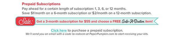 3 month paper pumpkin free sale a bration pattystamps