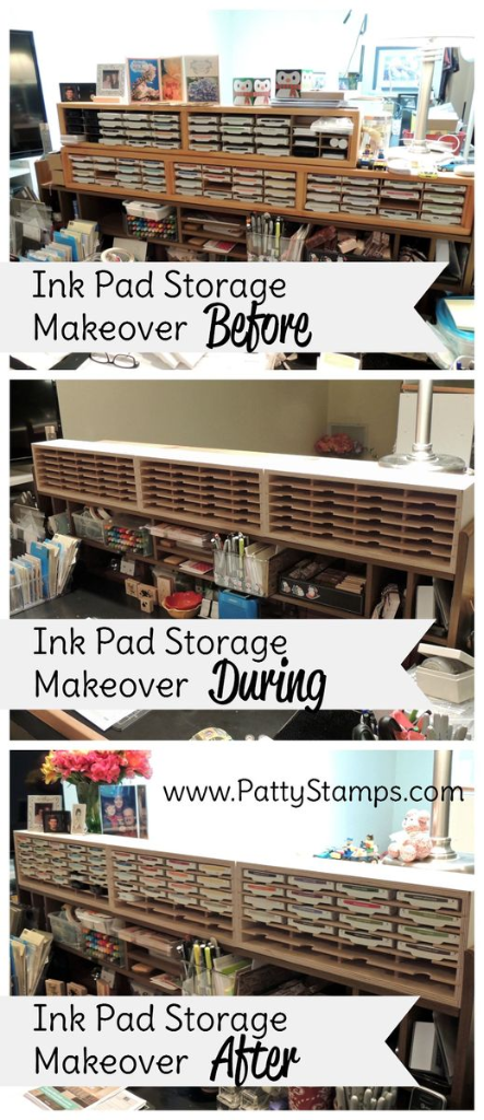 Ink Pad Storage Make Over Featuring Stamp N Holders For My