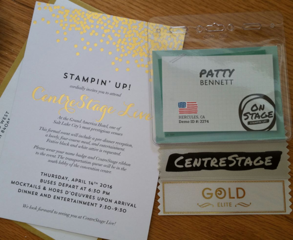 Patty Bennett heads to the 2016 Stampin' UP! OnStage Live event in Salt Lake City Utah