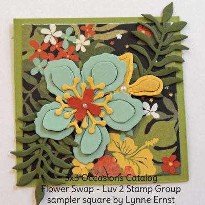 3x3 Floral Spring Sampler home decor frame, squares by the Luv 2 Stamp Group featuring Stampin' Up! Occasions catalog products