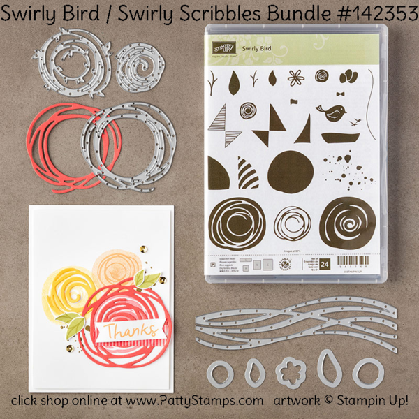 Must Have: New from Stampin' UP!: Swirly Bird and Swirly Scribbles bundle creates cute cards and craft projects! Sailboat card by Patty Bennett at pattystamps.com