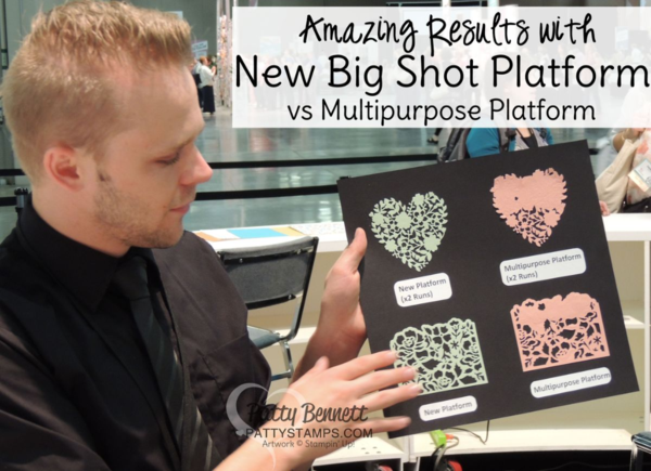 This is why you need the new Stampin' UP! Big Shot platform! Die cuts intricate dies with ease! click shop online at www.pattystamps.com and enter item #142802