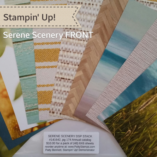 Stampin' UP! Serene Scenery Designer Series Paper Pack great for card making and crafting projects, shop online at www.PattyStamps.com