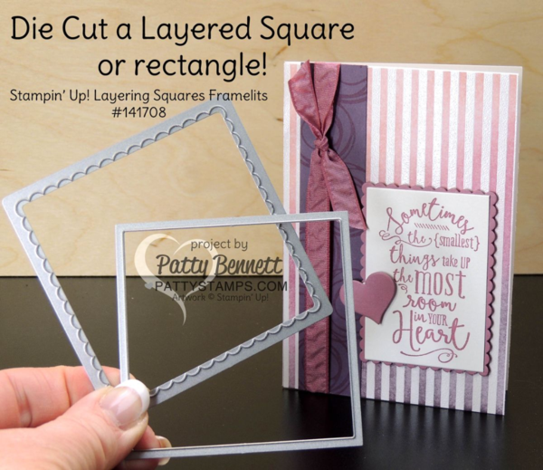 """Layering Love Stamp set from Stampin' Up! with sponged background """"Color Me Irresistible"""" paper from Stampin' Up!. Cards featuring new 2016-2018 In Colors by Patty Bennett. Swirly Scribbles framelits and Swirly Bird accents."""