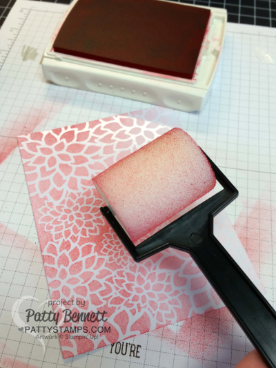 Use the new Sponge Brayers from Stampin' UP! to beautifully color the Irresistibly Floral paper! Products available at pattystamps.com