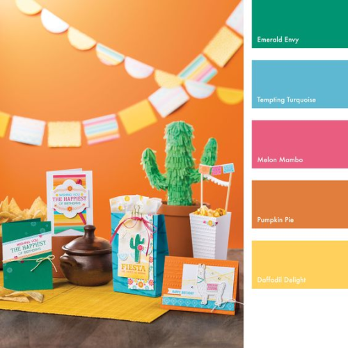 Festive birthday fiesta color combo from Stampin' UP!