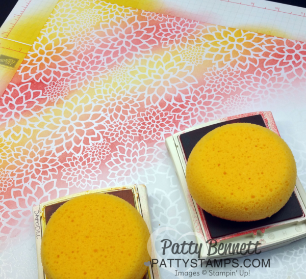 Video tutorial for Irresistibly Floral paper - how to color it with Stampin Up sponges!