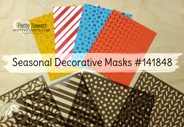 Stampin' UP! Seasonal Decorative masks for creating custom backgrounds for your stamping projects!