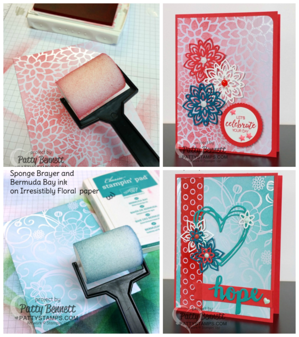 Stampin' UP! Irresistibly Floral paper cards by Patty Bennett