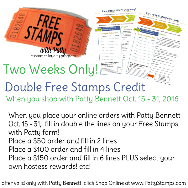 Double Free Stamps with Patty customer appreciation form