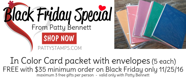 Online extravaganza 2016 stampin up pattystamps black friday special