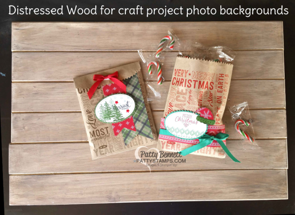 How to distress wood pine boards for craft photo backgrounds by Patty Bennett at www.pattystamps.com