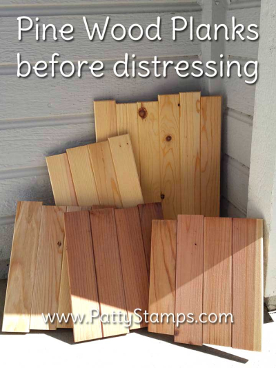 How to distress wood pine planks pattystamps before