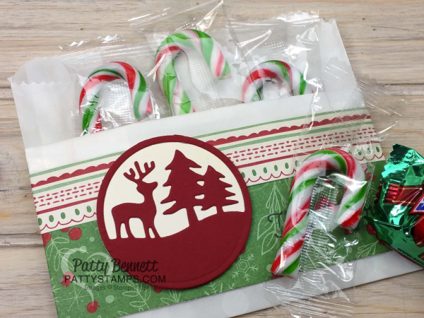Merry Tags Gift Card Holders featuring Stampin' Up! bags, paper and embellishments by Patty Bennett, www.PattyStamps.com