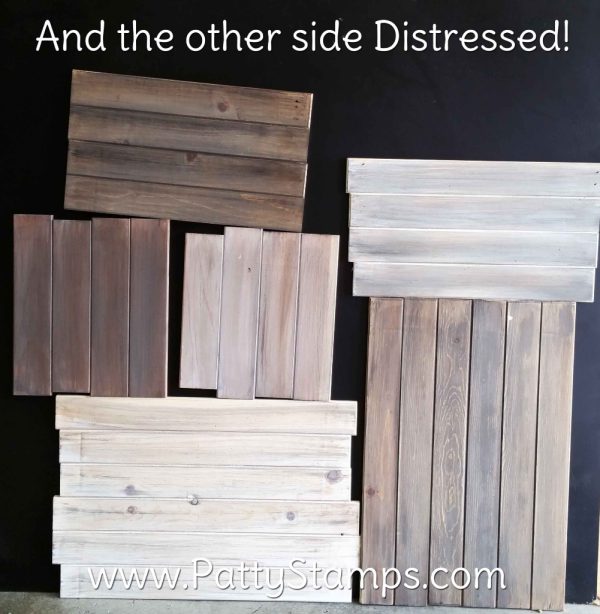 After Distressing wood pine boards by Patty Bennett at www.pattystamps.com