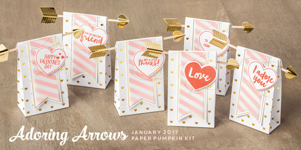 January 2017 paper pumpkin valentine goodie bags stampin up