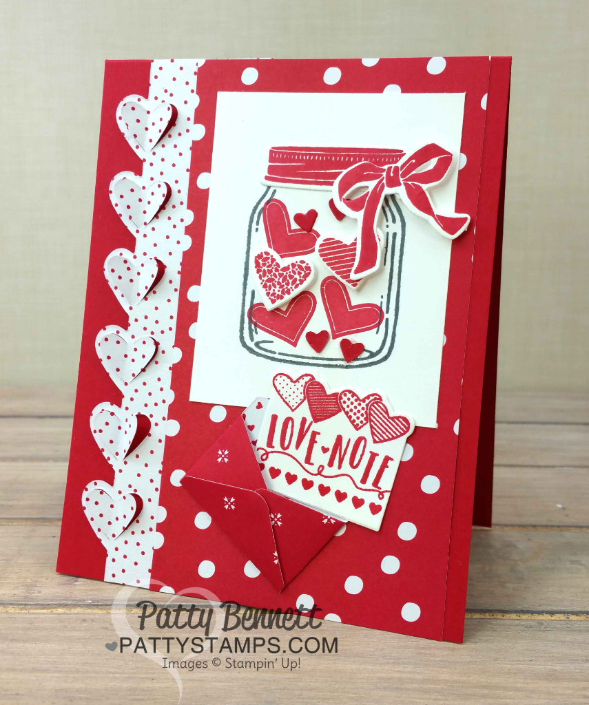 darling sending love valentine card ideas  patty stamps