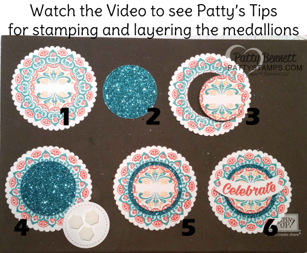 Make a medallion glimmer paper video tutorial stampin up pattystamps sale a bration 2017