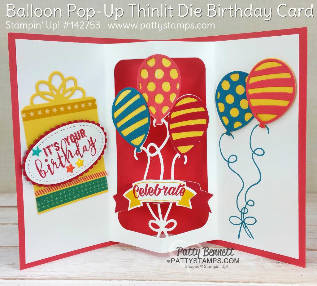 Balloon Pop Up Birthday Card For Jason