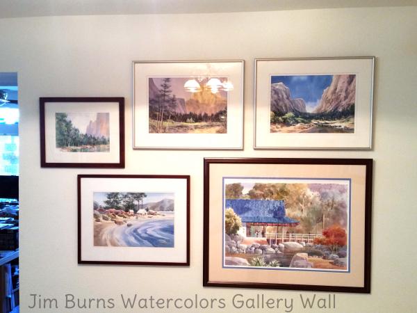 Jim burns watercolors gallery wall bennett home