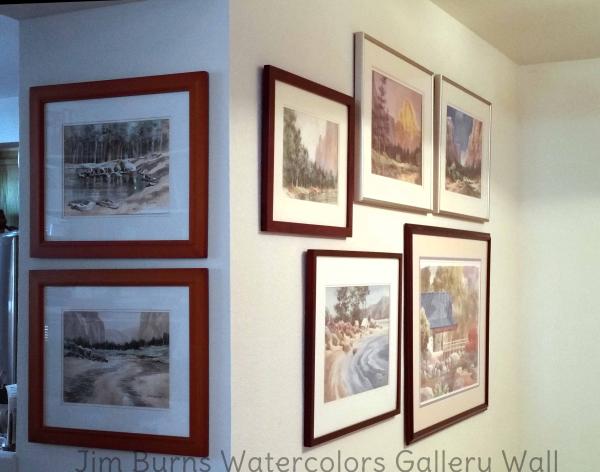Jim burns watercolors gallery wall bennett home 2