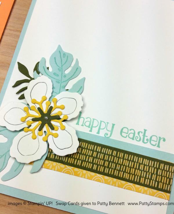 Botanical builder framelits flower card idea stampin up pattystamps swap
