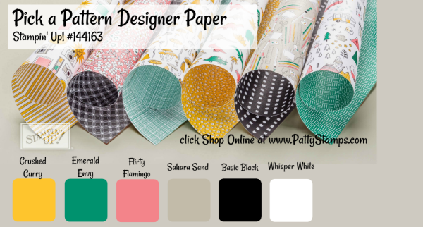 144163 Pick a Pattern Stampin' UP! designer paper available in my online store