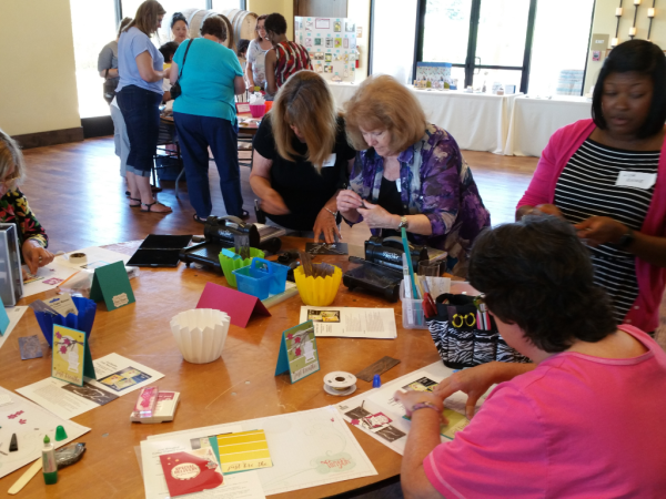 Luv 2 Group Stampin' Up! Demonstrator meeting June 2017 with Patty Bennett & Gina Cardera