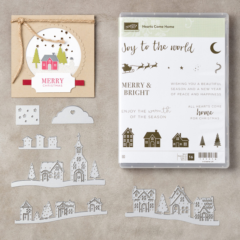 Hearts Come Home / Hometown Greetings Stampin' UP! bundle