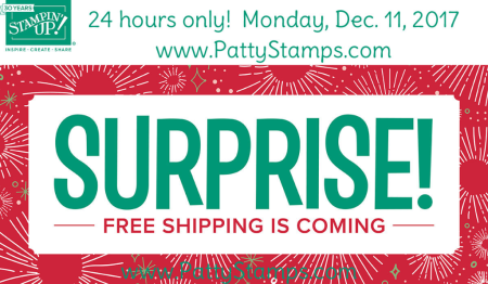 Free shipping dec 11 2017 stampin up pattystamps shop surprise