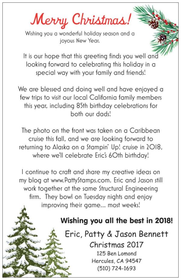 Bennett christmas card 2017 back