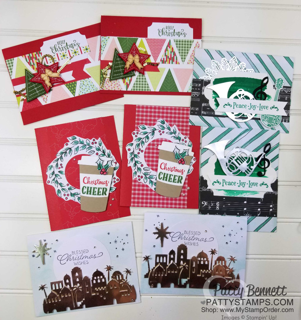 Christmas Card Ideas with Watercolor Christmas kit - Patty Stamps