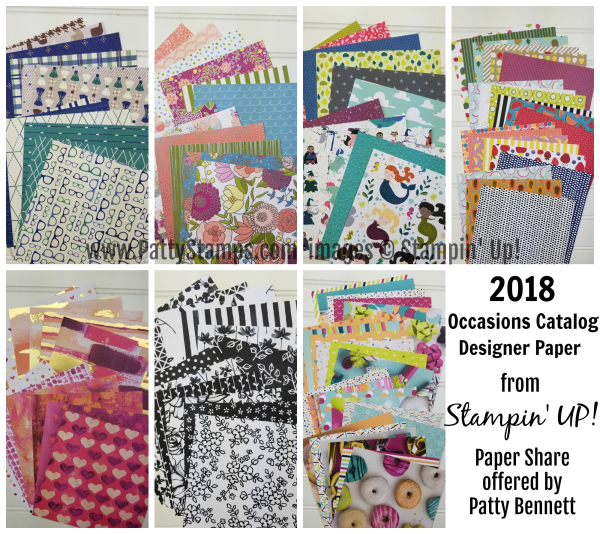 2018 Stampin up paper share occasions pattystamps