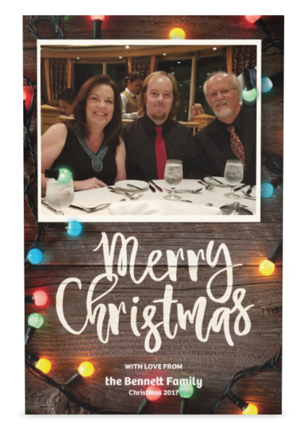 Bennett christmas card 2017 front